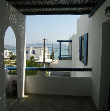 sea view from the terrace of the studio